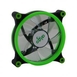 AIGO double aura 12cm LED case fan (Green)